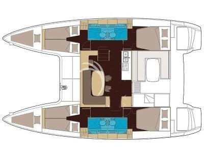 Lagoon 40 S2 (MIRANDA) Plan image - 1