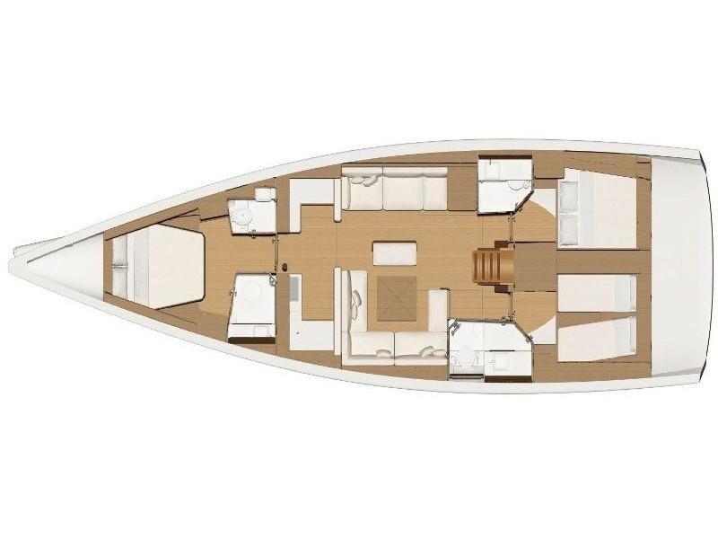 Dufour 520 Grand Large (La Esperanza) Plan image - 2