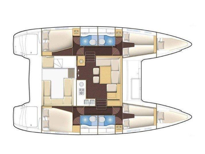 Lagoon 400 S2 (ANGELINA II) Plan image - 1