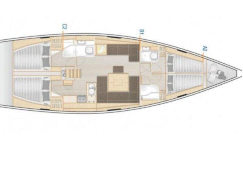 Hanse 458 (Adagio) Plan image - 15