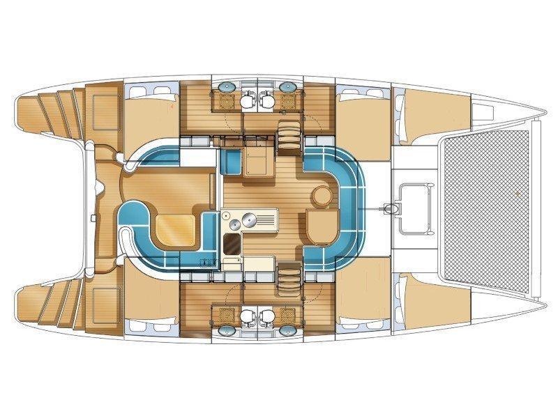 Nautitech 441 (Naut441 ) Plan image - 1