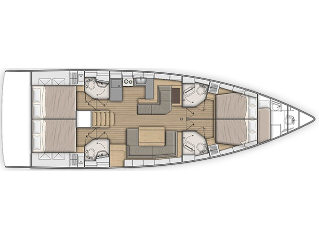 Oceanis 51.1 (MISS ALICE -  A/C and Generator) Plan image - 7