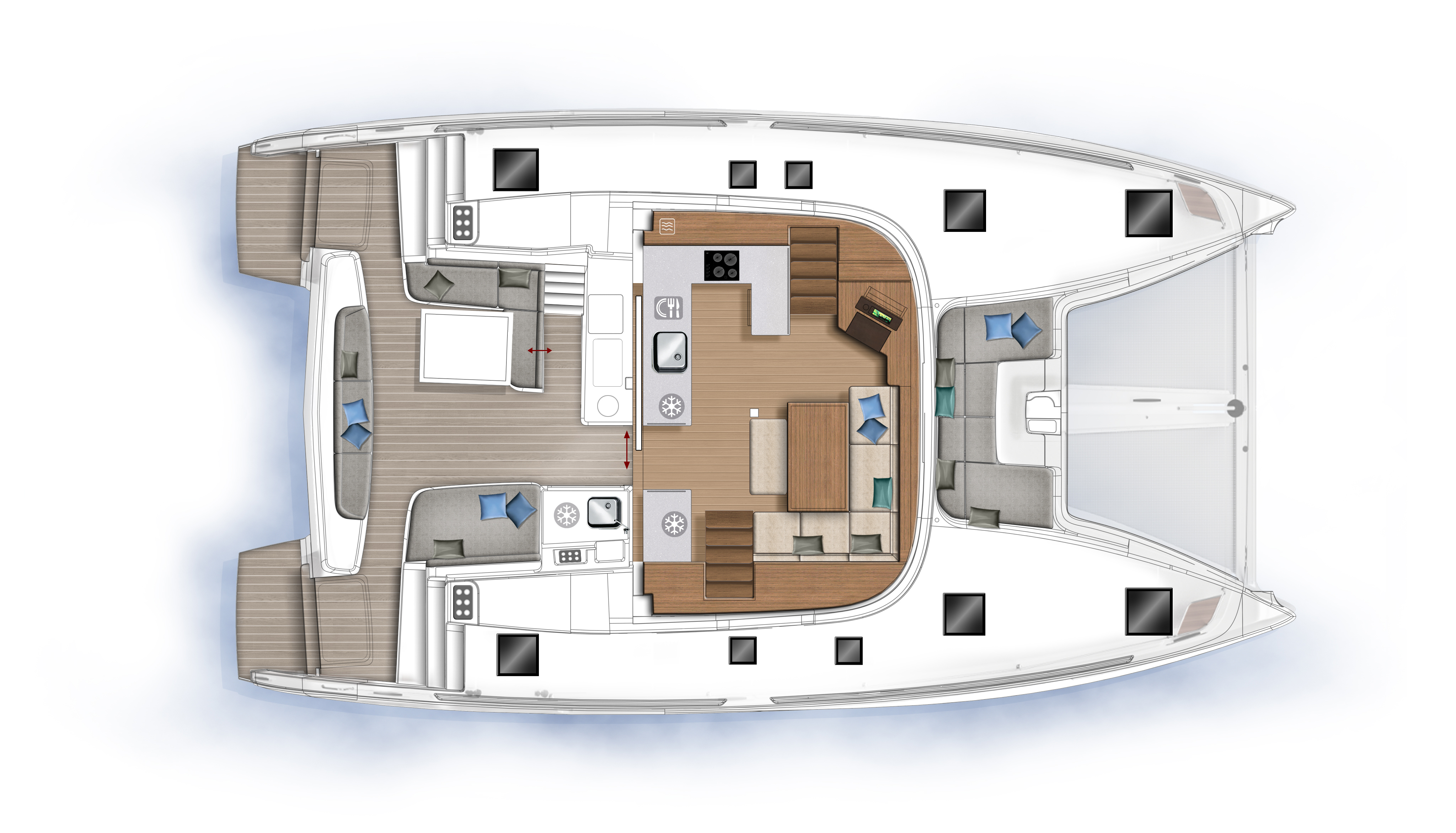 Lagoon 46 (2020) equipped with generator, A/C (sal (HANGOVER)  - 20