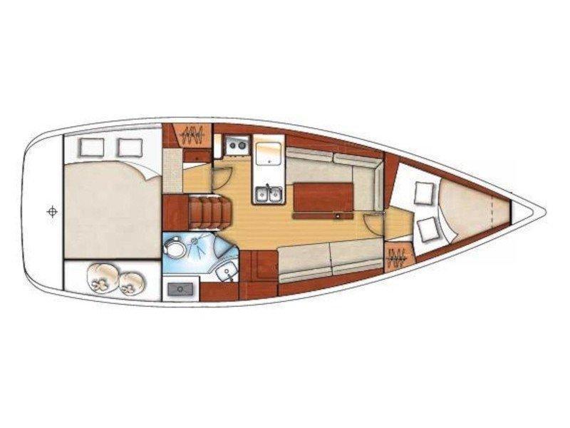 Oceanis 34 (Why not Maridadi) Plan image - 2