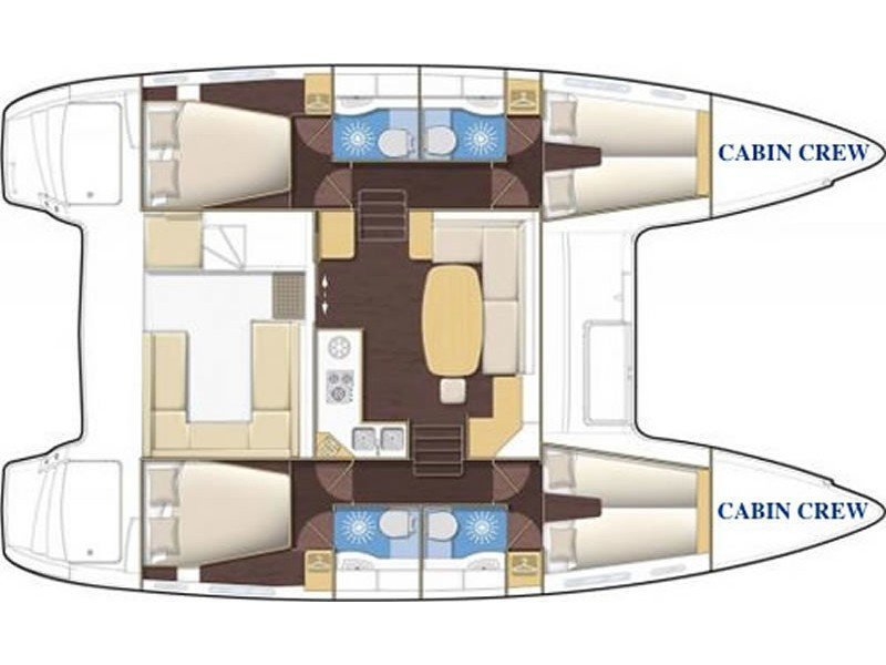 Lagoon 400 S2 (Why not 11) Plan image - 2