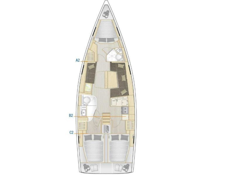 Hanse 418 (MY CLOUD) Plan image - 8