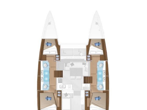 Lagoon 40 (Milu 2.0) Plan image - 6