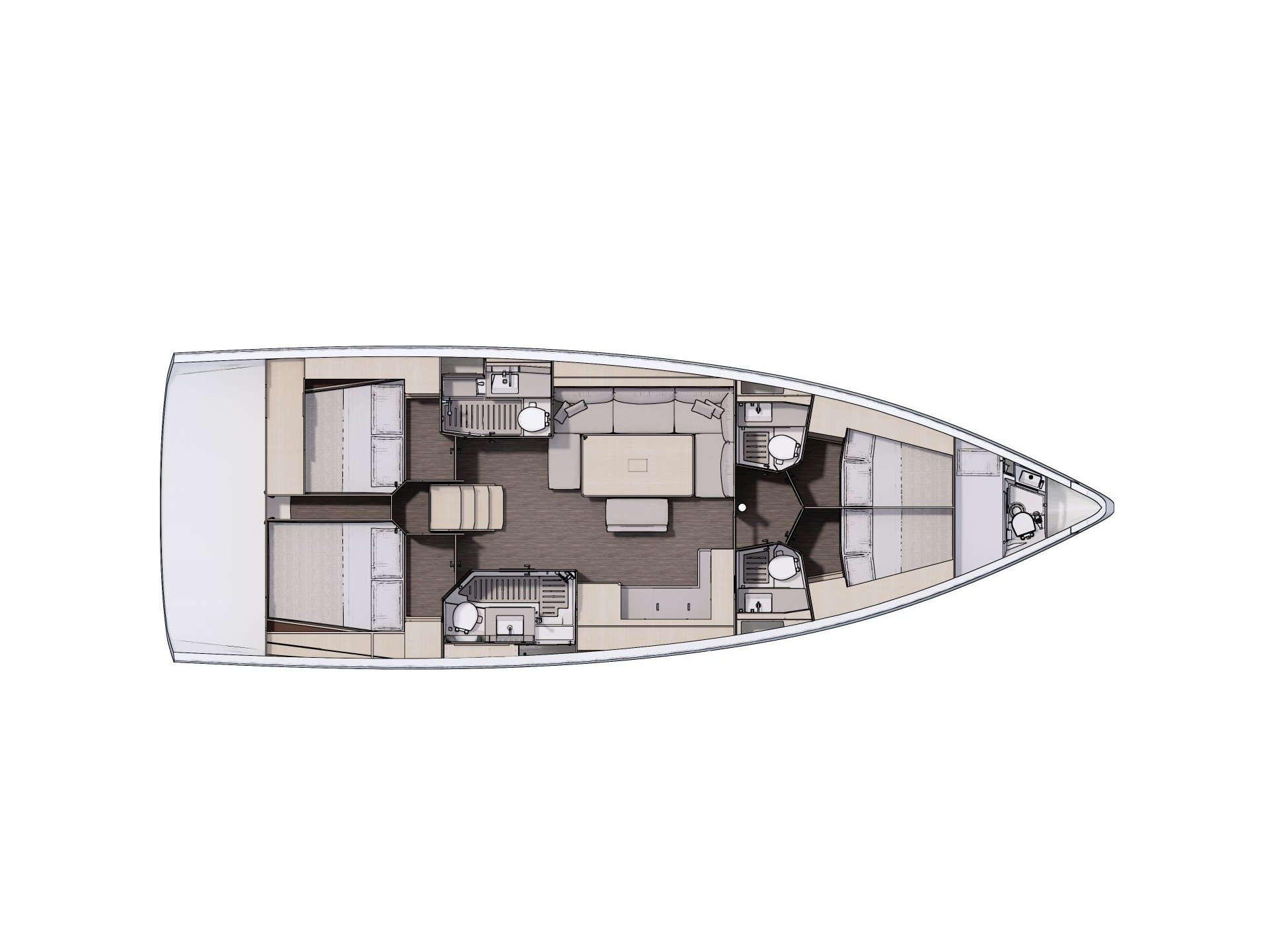 Dufour 470 (Ad Astra - Customized exclusive s/y) Plan image - 2