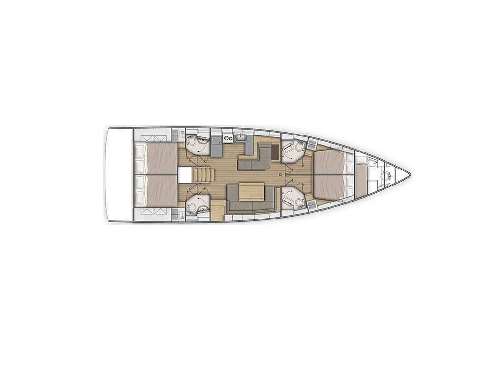 Oceanis 51.1 (4 CAB) (NEW OC 51.1_ATHENS) Plan image - 16