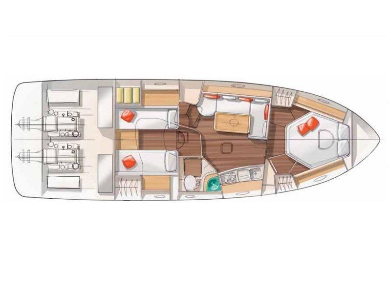 Monte Carlo 37 (Port Solent) Plan image - 1