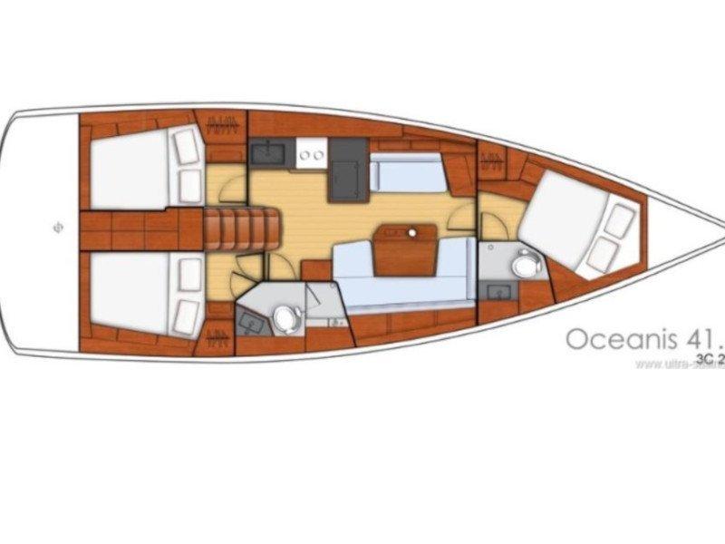 Oceanis 41.1 (Ocyrhoe) Plan image - 1