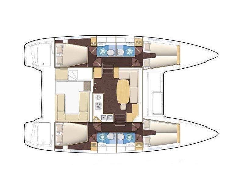 Lagoon 400 (Christina) Plan image - 2