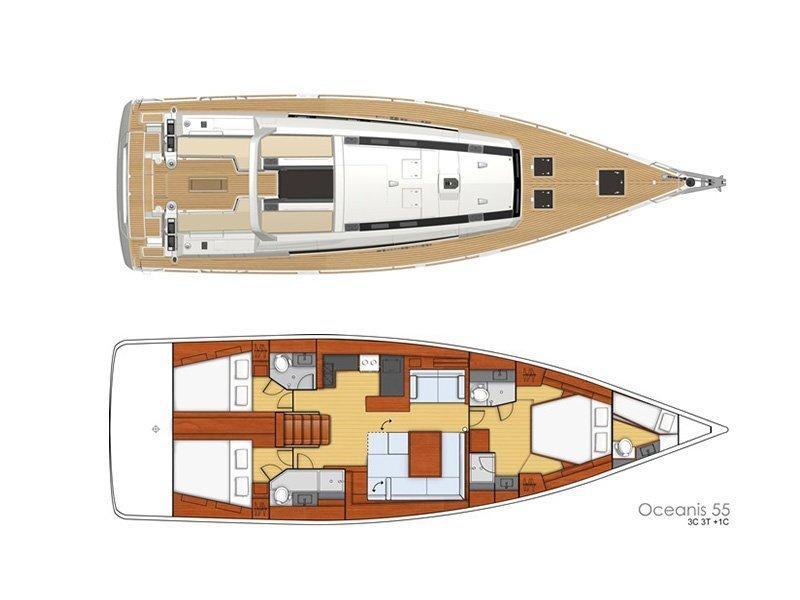 Oceanis 55 (Roxane) Plan image - 7