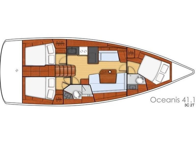 Oceanis 41.1 (The Salt Shaker) Plan image - 2
