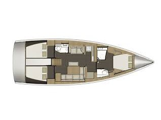 Dufour 460 Grand Large (Bloody Mary) Plan image - 1