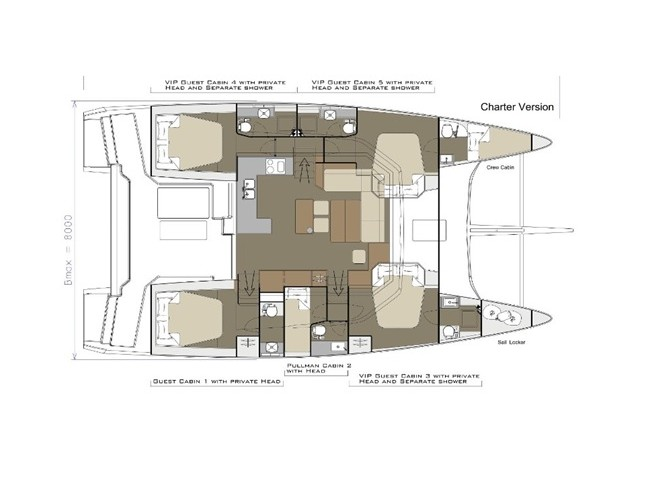 Dufour Catamaran 48 (Dreamland) Plan image - 5