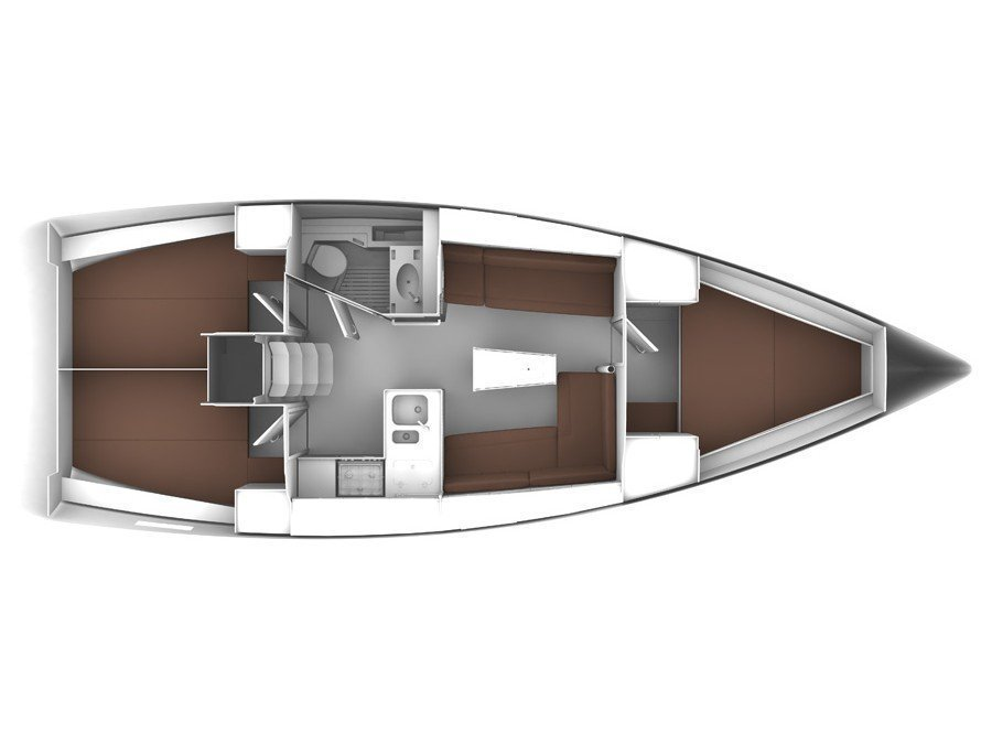 Bavaria Cruiser 37 (1639 BG) Plan image - 1