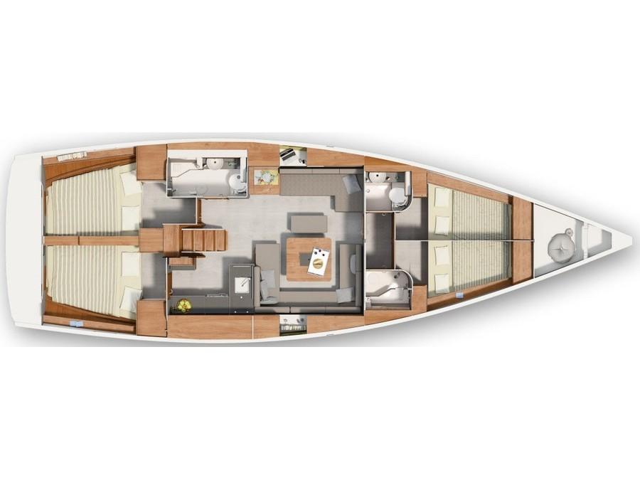 Hanse 455 (Istria) Plan image - 6