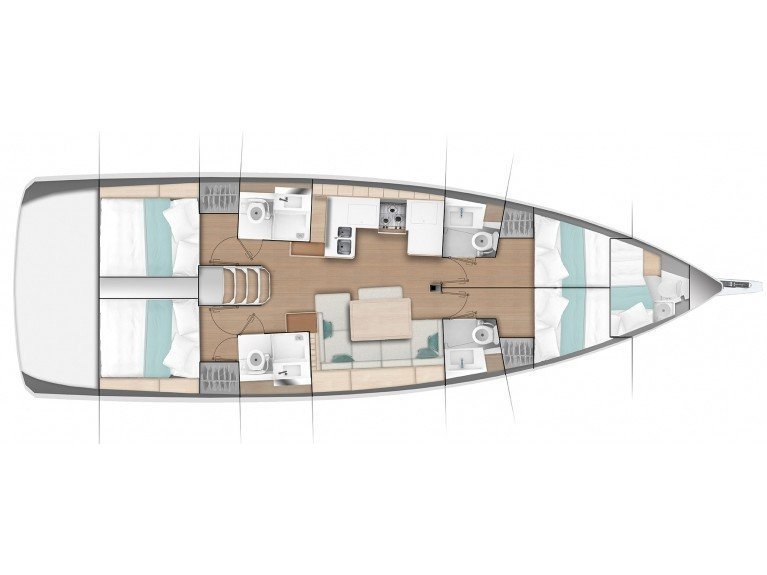 "Sun Odyssey 490 ""LUXE"" (Caruso) Plan image - 11"