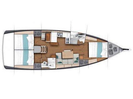 Sun Odyssey 440 (Carlyle) Plan image - 4
