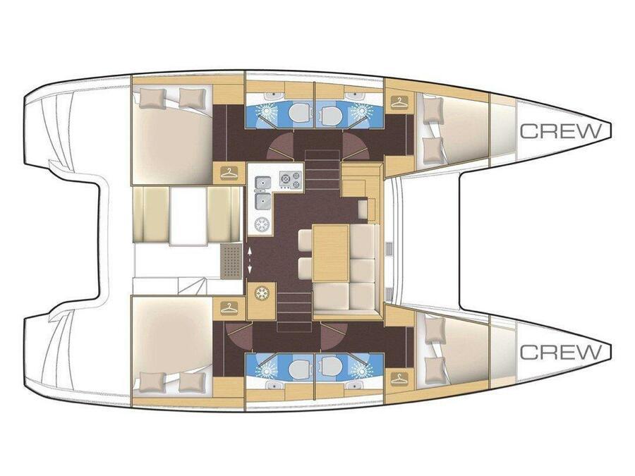 Lagoon 39 (Bakus) Plan image - 17