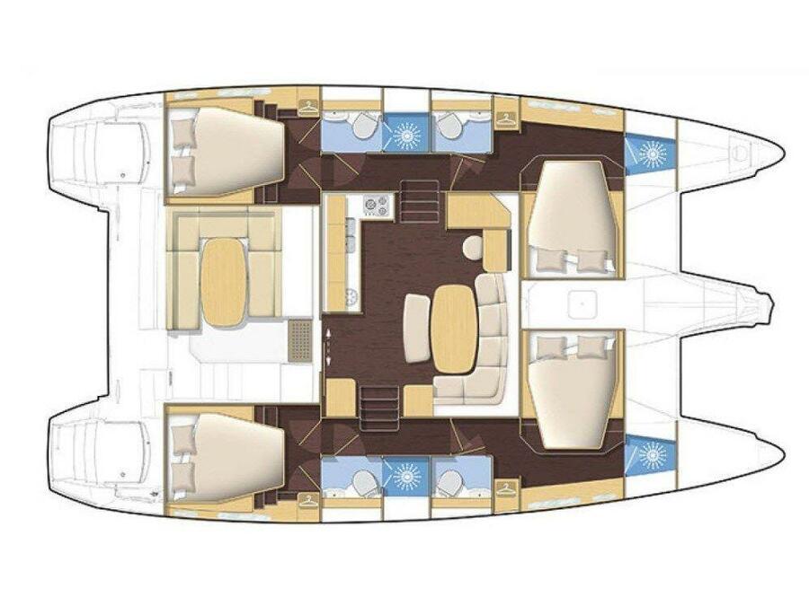 Lagoon 421 (Milly) Plan image - 1
