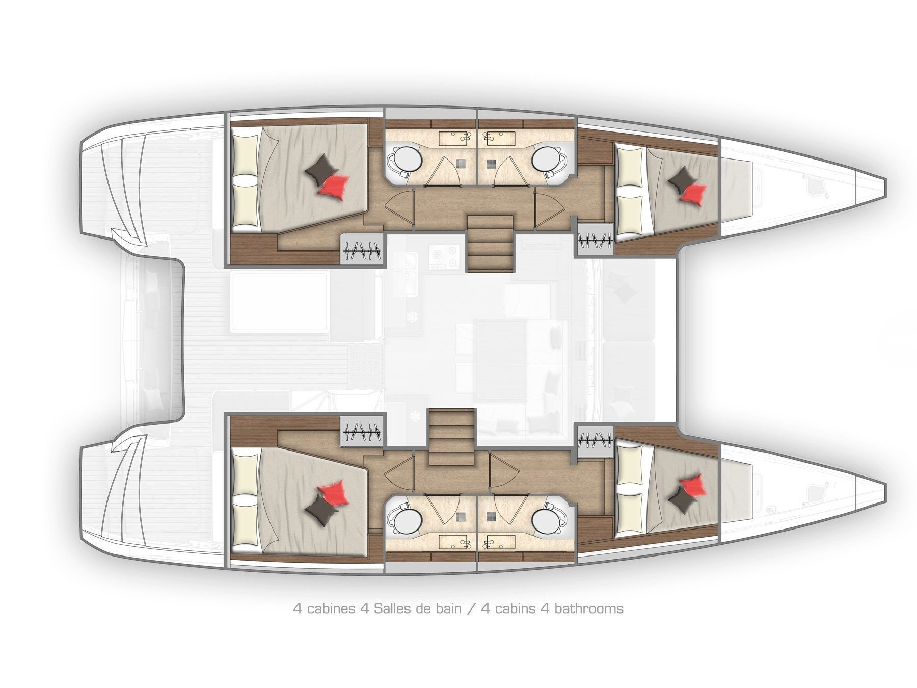Lagoon 40 (WILD CAT) Plan image - 12
