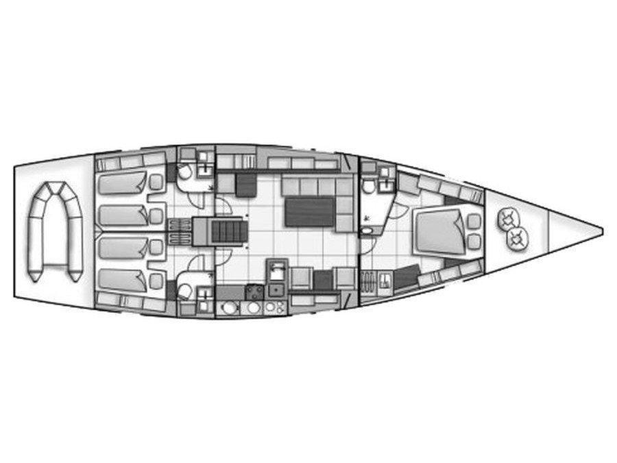 Hanse 540 (Giove) Plan image - 9