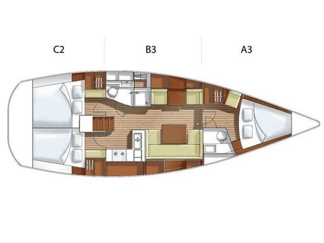 Hanse 400 (AEOLUS) Plan image - 2