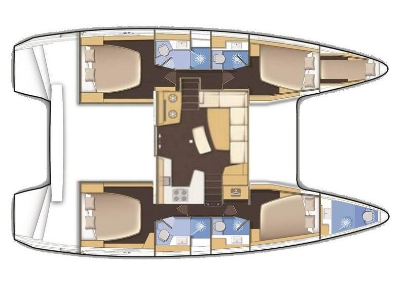 Lagoon 42 (Aenaos) Plan image - 1