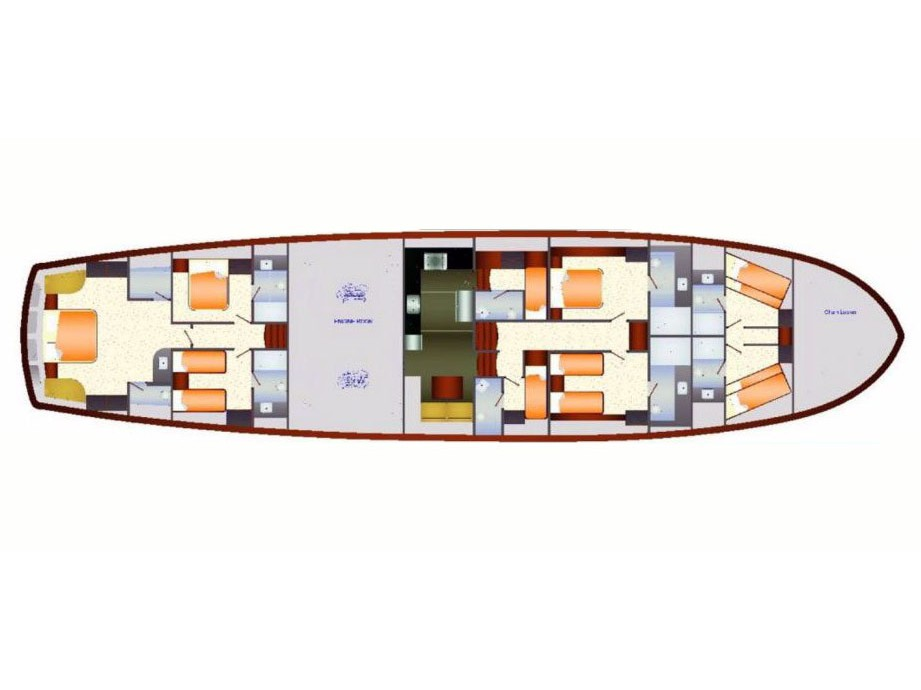 Custom Sailing Gulet 128ft (Dragon Fly) Plan image - 1