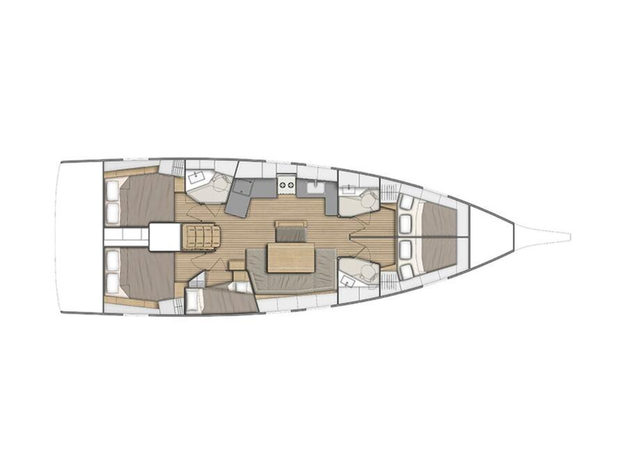 Oceanis 46.1 (5 cab) (Sceptrum) Plan image - 9