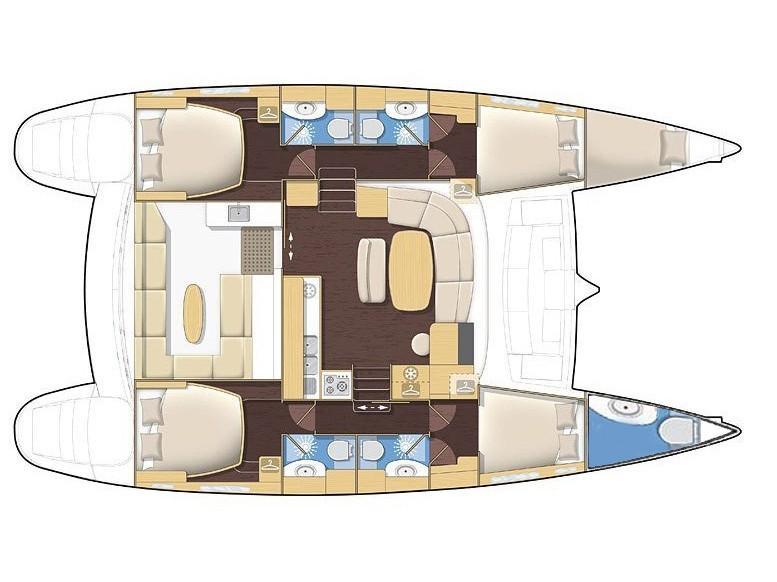 Lagoon 440 (4+2 cab) (OCEANUS) Plan image - 13