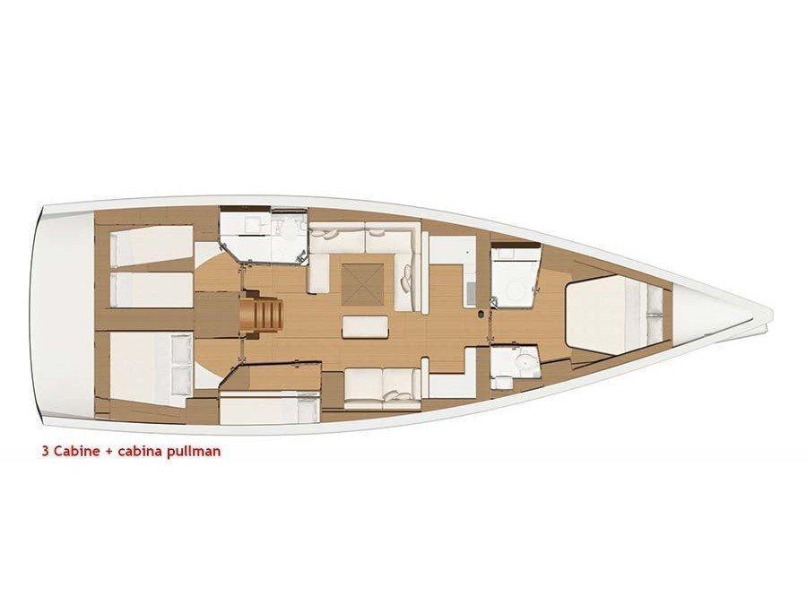 Dufour 520 Grand Large (Euribia) Plan image - 5