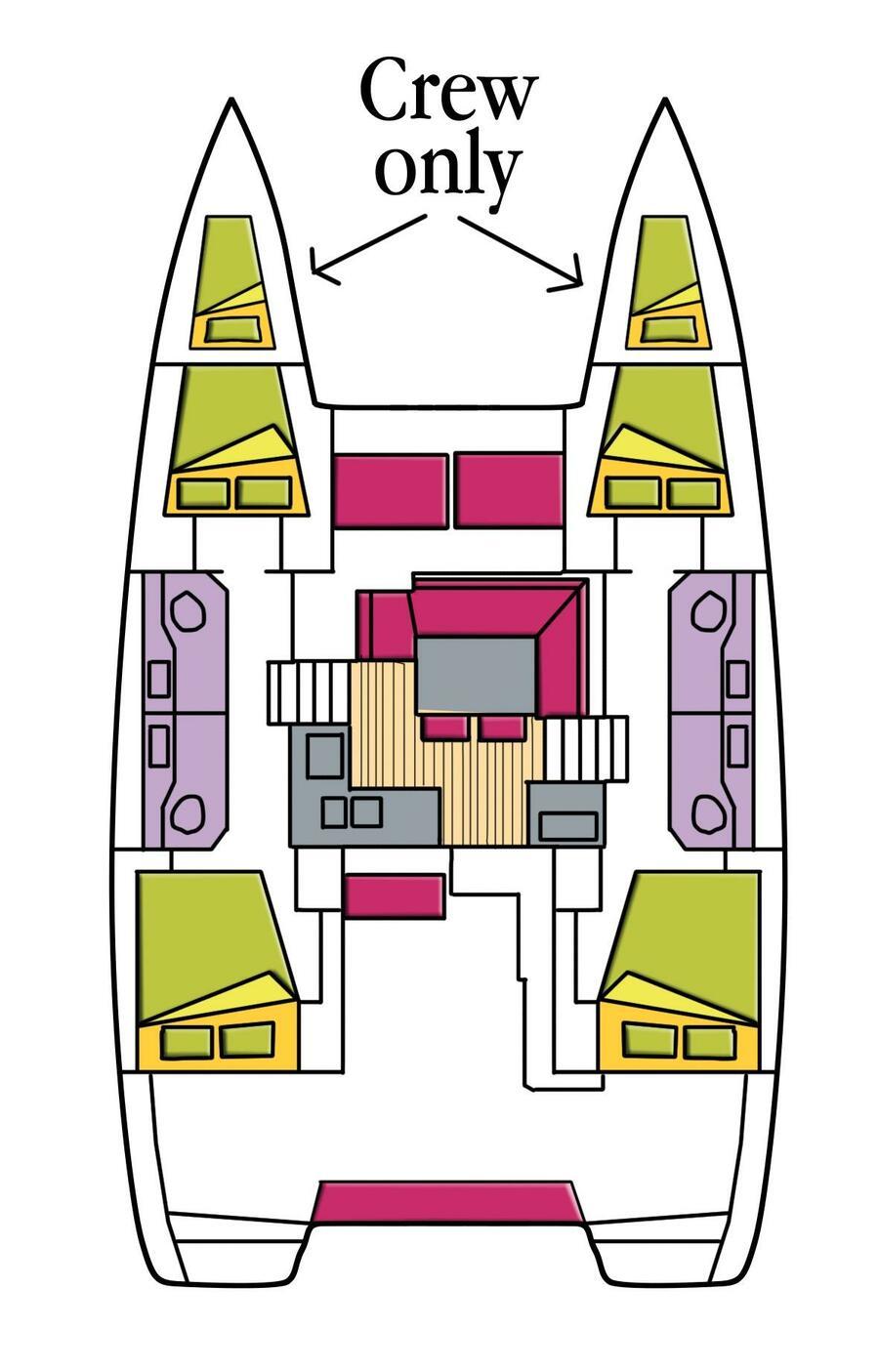 Lagoon 40 (4 cabs) (Freccia (WM, Inverter))  - 9