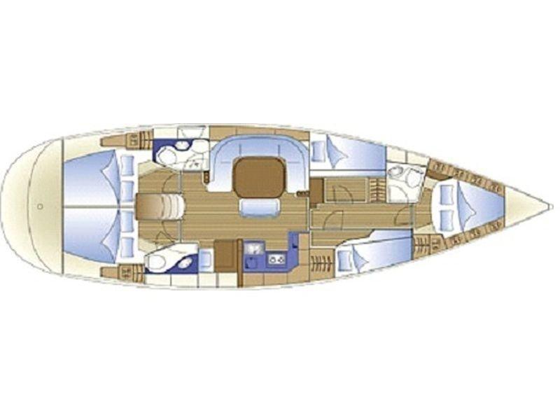 Bavaria 49 (Alboran XXIII Merengue (Radazul)) Plan image - 1