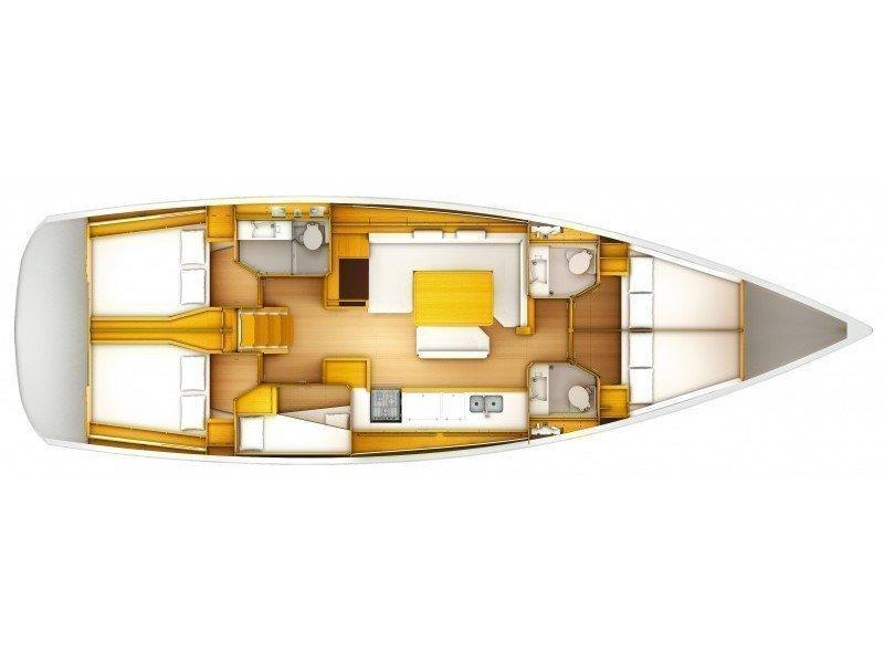 Sun Odyssey 519 (Alboran Bourbon (Majorca)) Plan image - 1