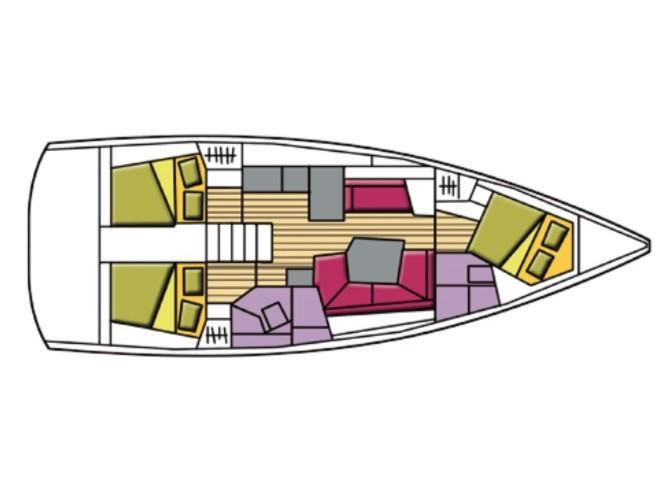 Oceanis 41.1 (Agena) Plan image - 1