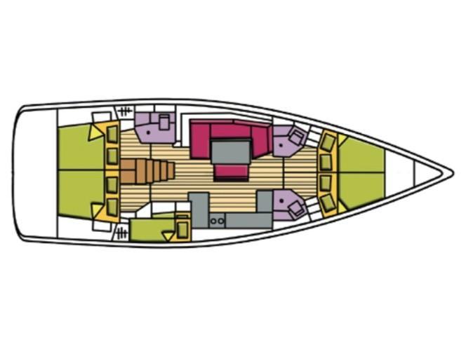 Oceanis 48 (Peacock) Plan image - 10