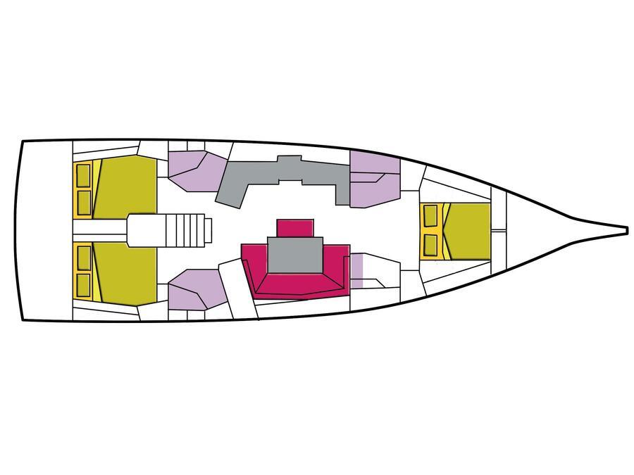 Oceanis 46.1 (3 cab) (Meridiana) Plan image - 8