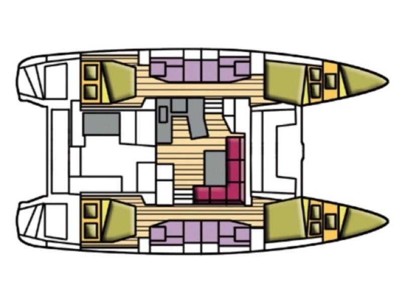 Lagoon 42 (Zippiri (WM, Inverter, Heating)) Plan image - 5