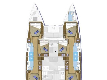 Lagoon 50 Fly (SUMMER STAR ) Plan image - 2