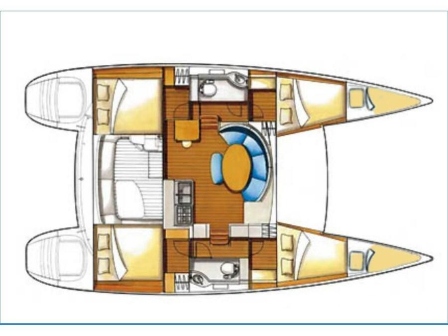 Lagoon 380 (Suncity 1) Plan image - 8