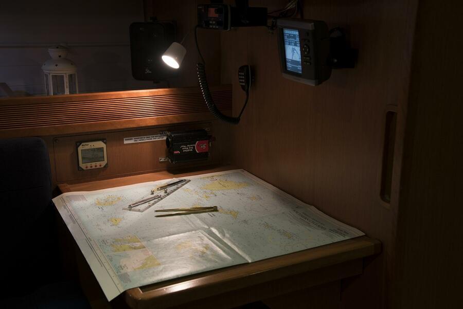 """Bavaria Cruiser 45 (Sea Melody (""""Quantum"""" Sails)) Chart Table - 1"""
