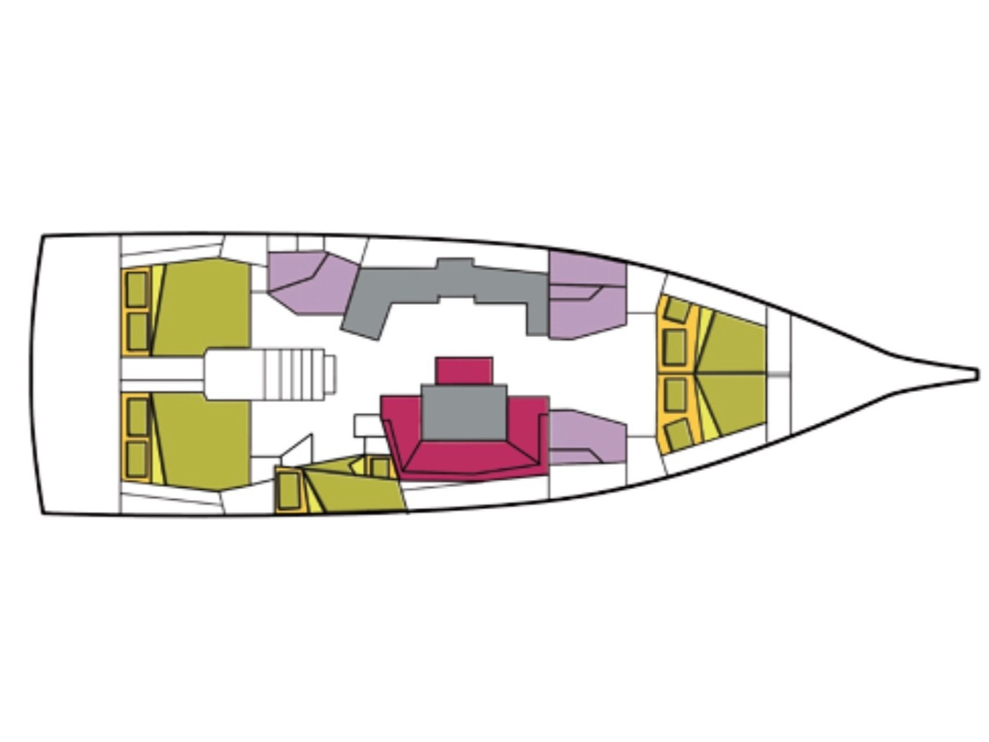 Oceanis 46.1 (5 cab) (Becrux) Plan image - 2