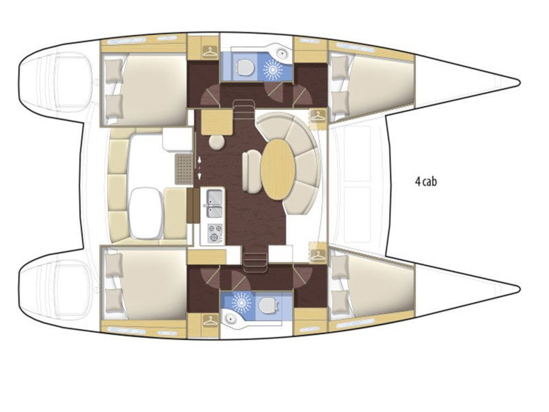 Lagoon 380 (LAURA with Watermaker) Plan image - 5