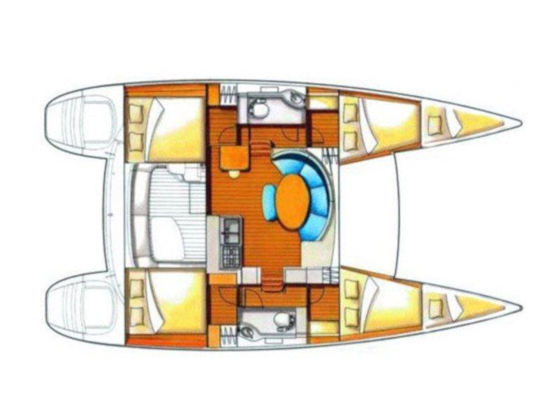 Lagoon 380 S2 (Ploto) Plan image - 1