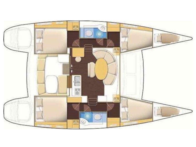 Lagoon 380 S2 (Malvasia) Plan image - 4