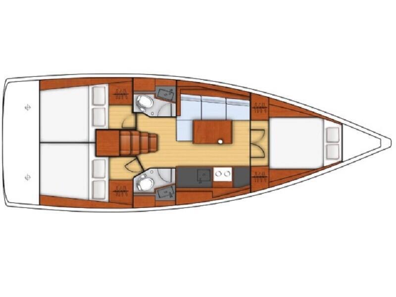 Oceanis 38.1 (Cala) Plan image - 2