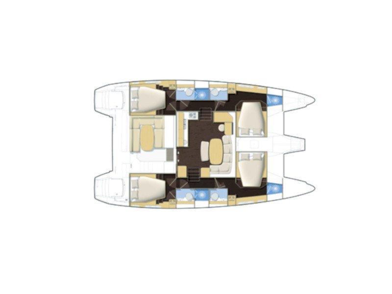 Lagoon 421 (Marielle) Plan image - 2